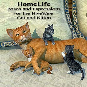HomeLife For the HW House Cat and Kitten