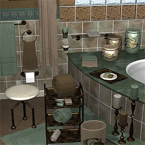 Verde Marrone for Bathroom Accessories