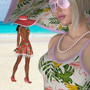Tropical Heat for Laced Sundress