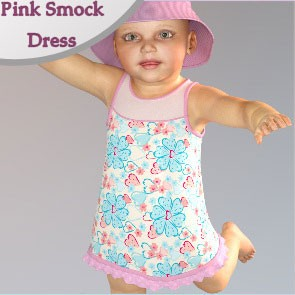 Pink Smock Dress for Baby Luna