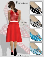 50s Dress and Accessories for Dawn
