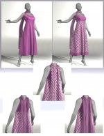 About Town for Anarkali Dress and Scarf