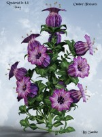 Tole Painted Textures for LB Bell Flower Value Stack-Ombre