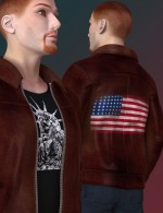 World Jacket Textures for Bomber Jacket - DAZ Studio