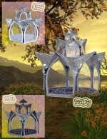 Metal and Marble for Fantasy Gazebo