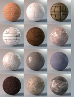 Stone Shaders for Iray Vol 1