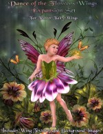 Flower Fairy Outfit & Wings Texture Value Stack