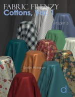 Fabric Frenzy-Cottons Vol. 1 PBR Textures & Poser Shaders MR