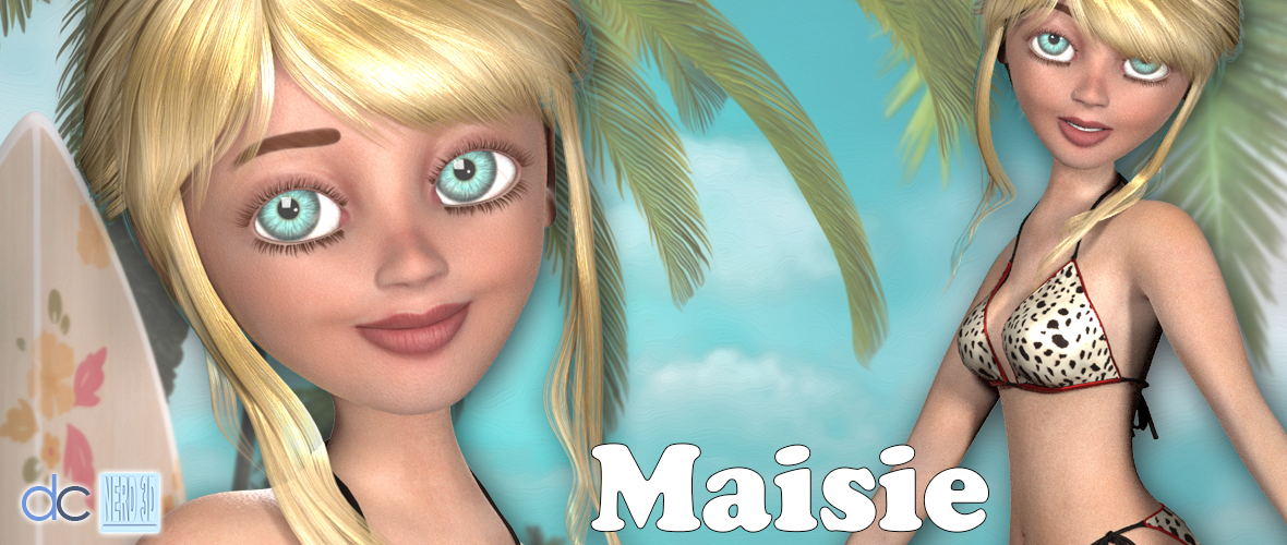 Maise Weight Mapped Toon Figure for Poser