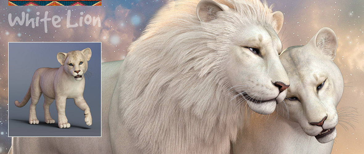 White Lion for the HiveWire Lion Family